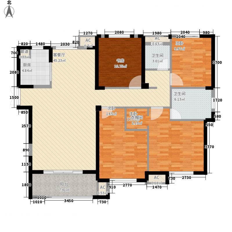 阳光凡尔赛宫163.00㎡21号楼E3户型4室2厅2卫1厨