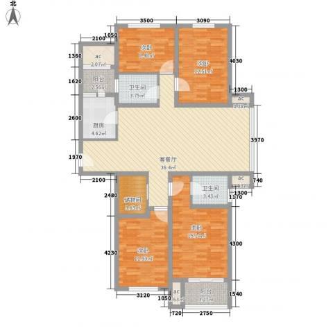 京城豪苑4室1厅2卫1厨127.20㎡户型图