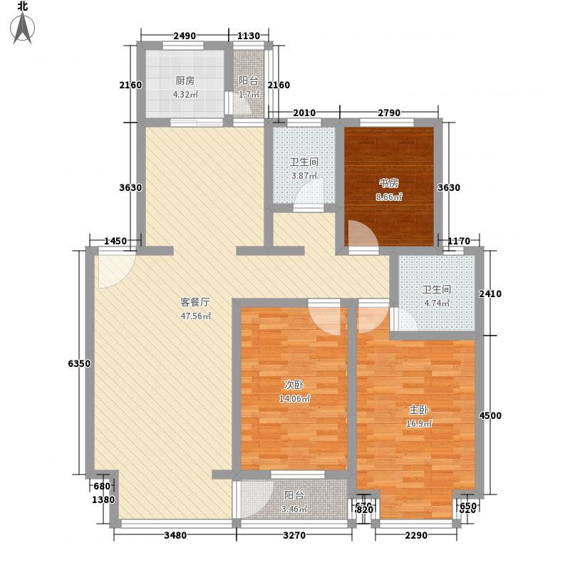莱茵河畔133.00㎡莱茵河畔户型图3室2厅2卫户型10室