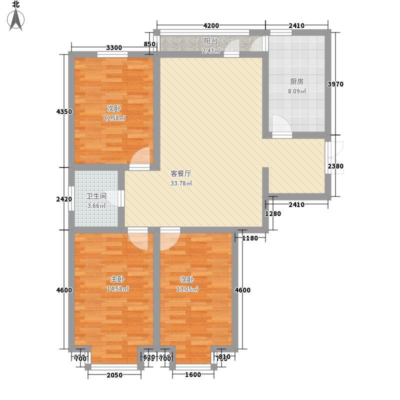 莱茵河畔121.00㎡莱茵河畔户型图3室2厅1卫户型10室