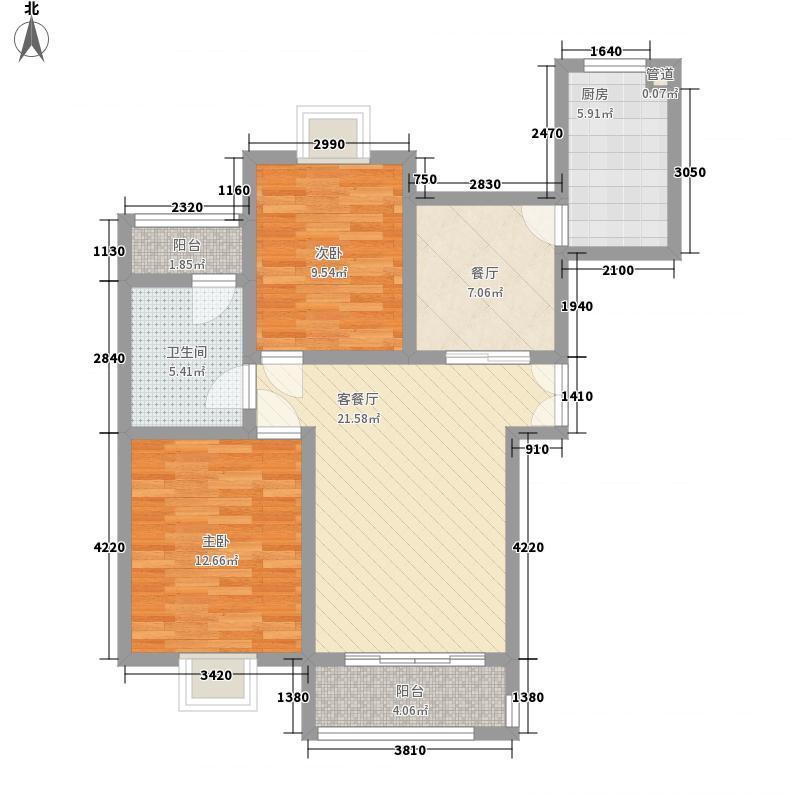 印象6座100.00㎡印象6座户型图F2室2厅1卫1厨户型2室2厅1卫1厨