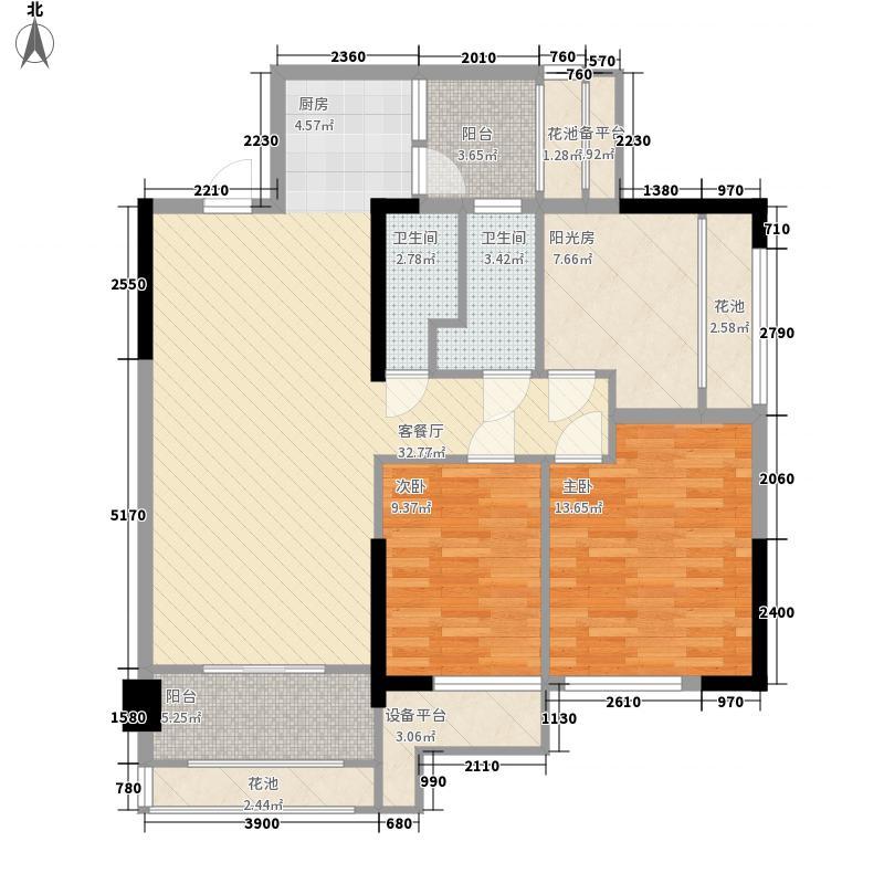 梧桐墅5.00㎡四期荷兰郡187栋188栋标准层D3户型3室2厅1卫1厨