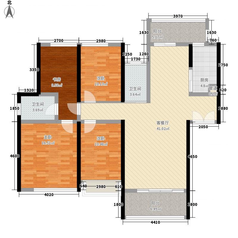 金地伊顿山147.52㎡6栋1单元01户型4室2厅2卫1厨