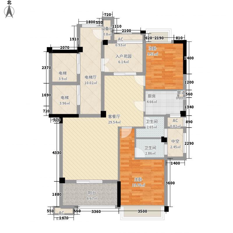 融信大卫城别墅115.00㎡26#04标准层户型3室3厅2卫1厨