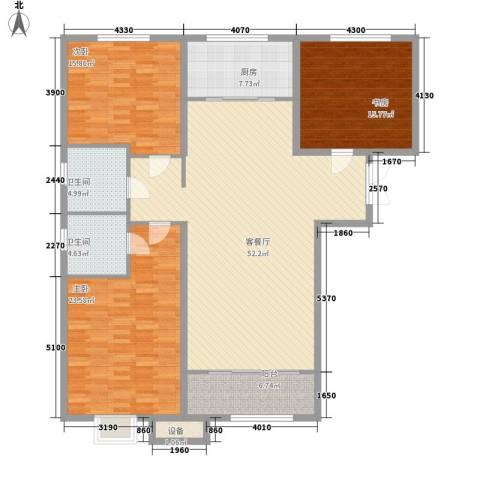 金宇・新天地3室1厅2卫1厨133.00㎡户型图