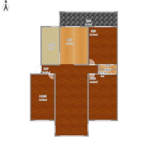 凤凰园3室1厅1卫1厨138.00㎡户型图