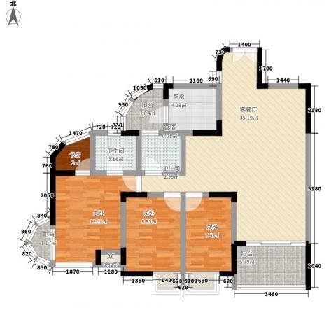 新世纪明上居4室1厅2卫1厨128.00㎡户型图