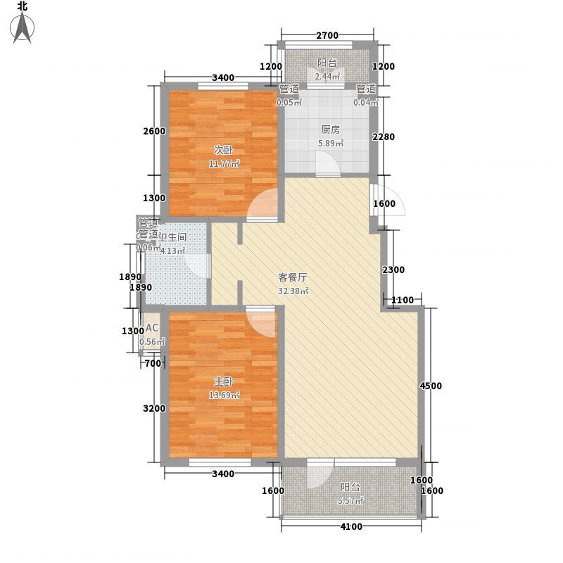 阳光上品101.22㎡阳光上品户型图B11户型图2室2厅1卫户型2室2厅1卫