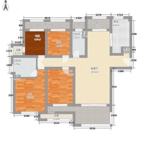 星光耀广场4室1厅2卫1厨119.00㎡户型图
