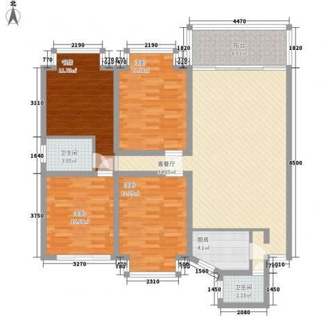 鑫宇翠庭4室1厅2卫1厨141.00㎡户型图