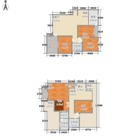 十里江南5室1厅3卫1厨399.00㎡户型图