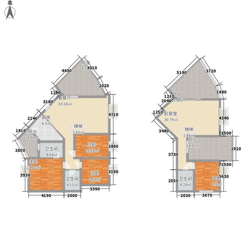 十里江南B2首下跃层-1户型4室3厅2卫1厨
