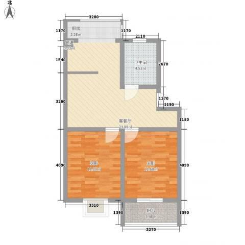马景园2室1厅1卫0厨80.00㎡户型图