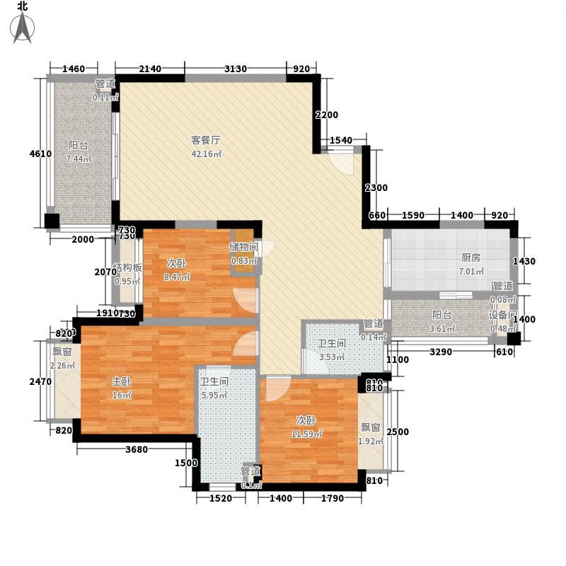 仁恒星园户型3室