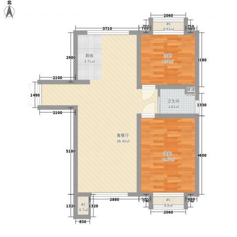 佳泰帝景城2室1厅1卫0厨93.00㎡户型图