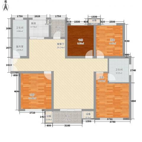 世纪康城4室1厅2卫1厨108.85㎡户型图