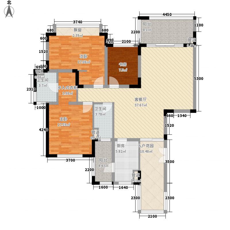 仁恒星园143.00㎡5、8栋一单元0户型3室2厅2卫