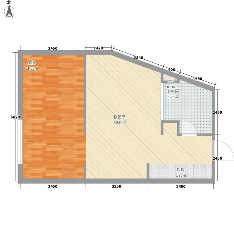 璞悦Residence881.02㎡璞悦Residence8户型图1#楼G户型1室1厅1卫1厨户型1室1厅1卫1厨