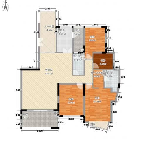 仁恒星园4室1厅2卫1厨167.00㎡户型图