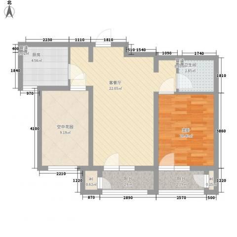 世茂・萨拉曼卡1室1厅1卫1厨81.00㎡户型图