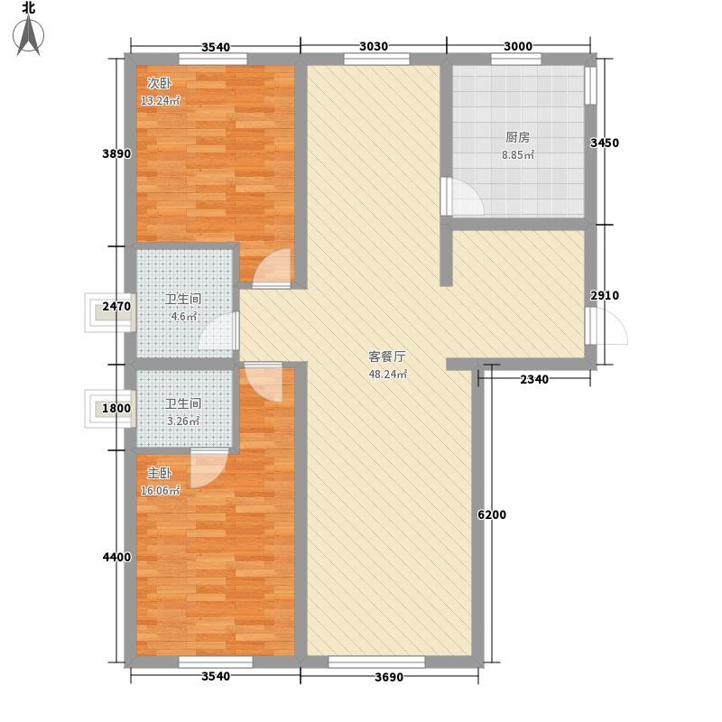 水宜家苑129.55㎡水宜家苑户型图2室2厅1卫户型10室