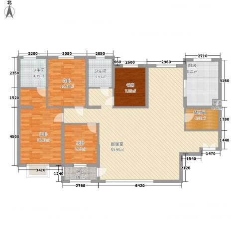岭东路教师公寓4室0厅2卫1厨168.00㎡户型图