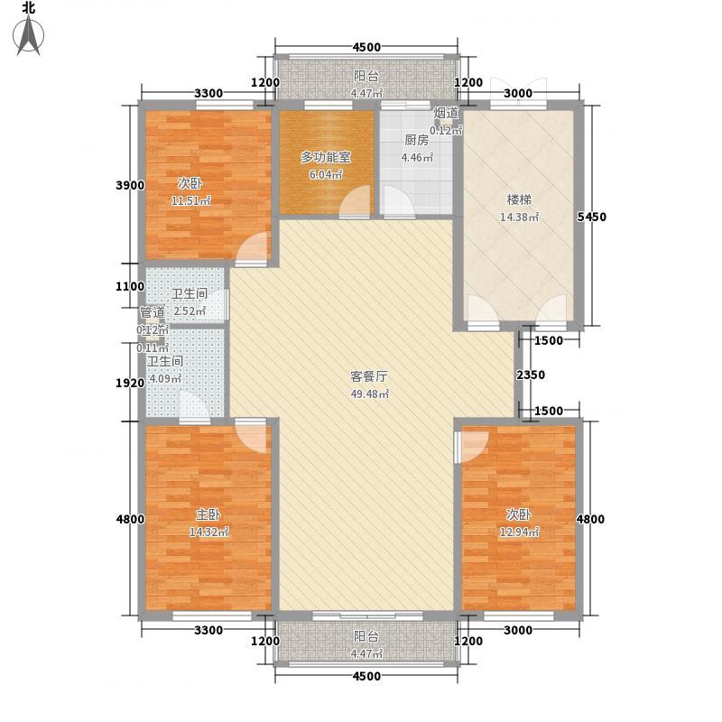 宏发金华苑户型图4室2厅2卫