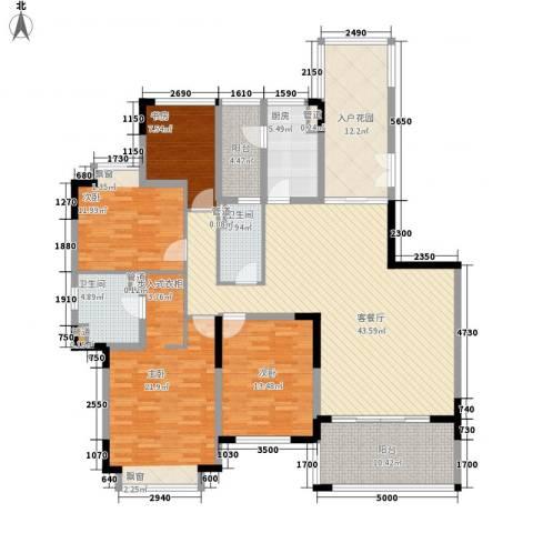 仁恒星园4室1厅2卫1厨140.48㎡户型图