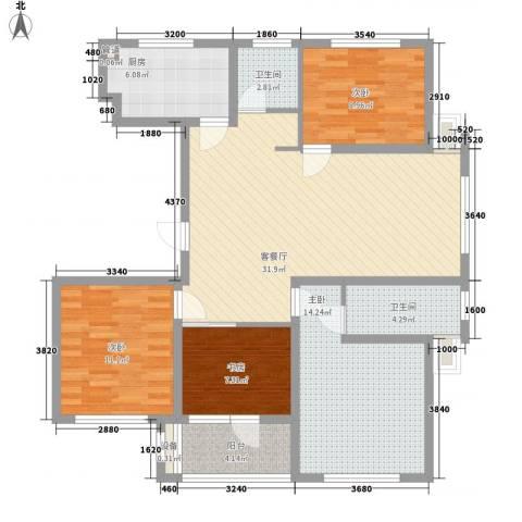 江都恒通帝景蓝湾4室1厅2卫1厨132.00㎡户型图
