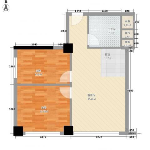 沙发公寓2室1厅1卫0厨78.00㎡户型图