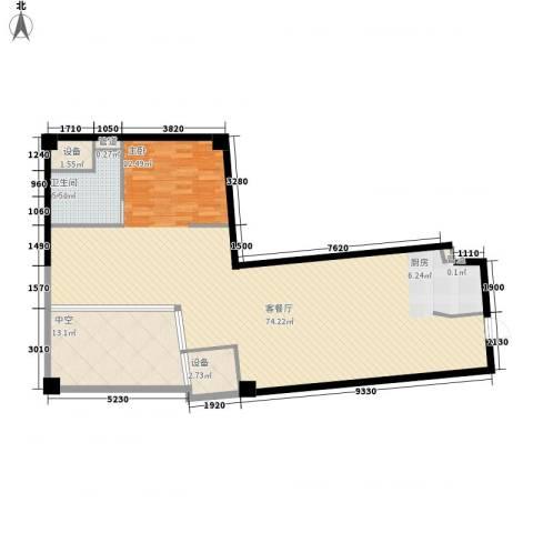 上置美兰优湖1厅1卫0厨135.00㎡户型图
