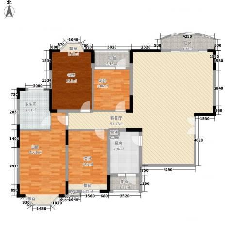 维一星城4室1厅1卫1厨193.00㎡户型图