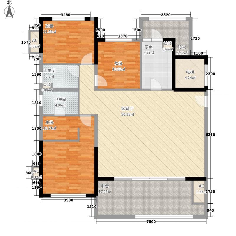 天隆・三千海161.50㎡天隆・三千海户型图泊心岸2栋A-1户型3室2厅2卫户型3室2厅2卫