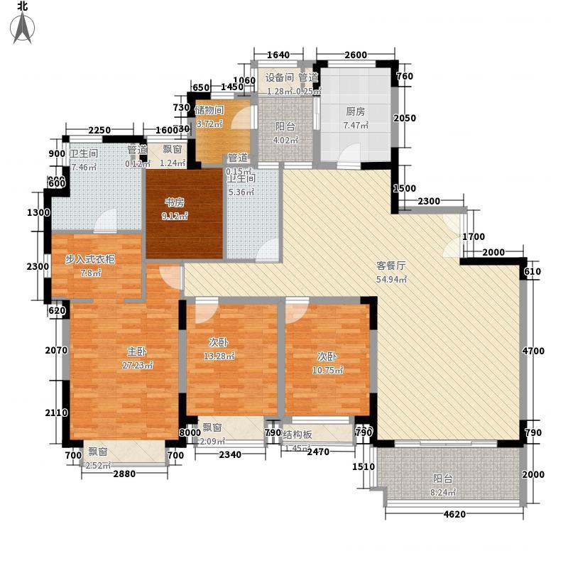 仁恒星园233.00㎡9栋户型4室2厅2卫1厨