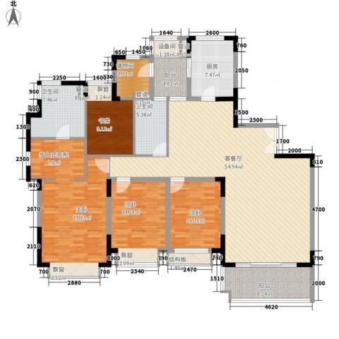 仁恒星园4室1厅2卫1厨233.00㎡户型图