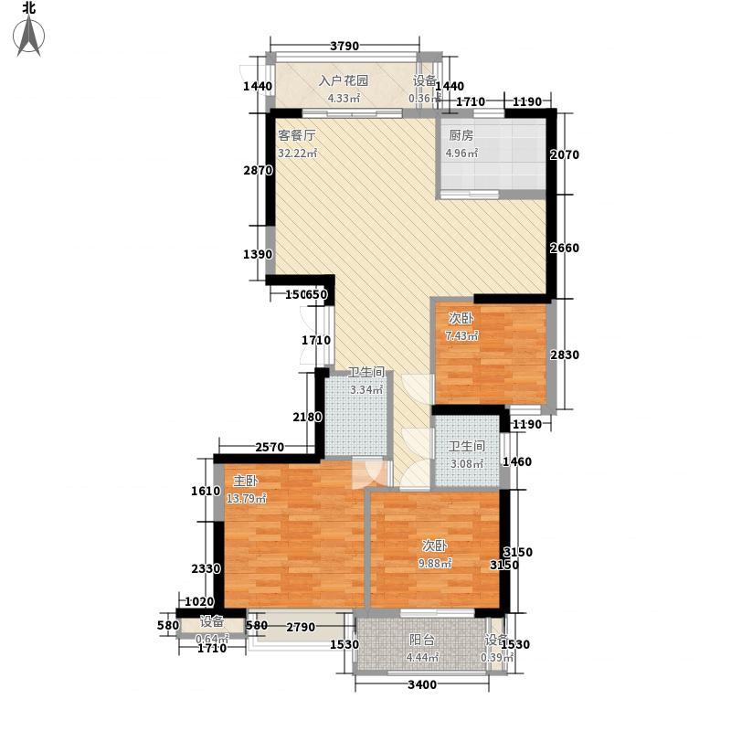 汇诚佳源居122.86㎡2号楼B户型3室2厅2卫1厨