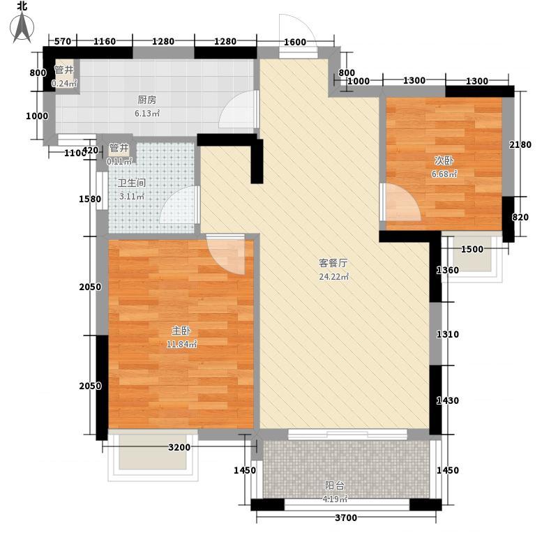 沂龙湾御园8.00㎡H2户型2室2厅1卫1厨