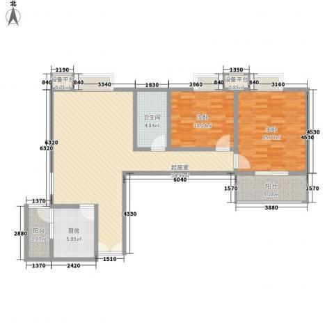 世融嘉城2室0厅1卫1厨112.00㎡户型图