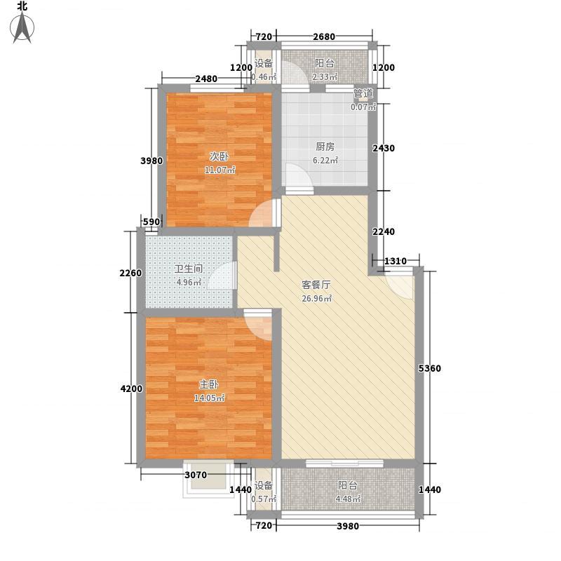 旺旺家缘103.87㎡旺旺家缘户型图D-1A2室2厅1卫1厨户型2室2厅1卫1厨