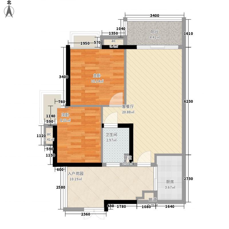 君华香柏广场(白云)78.06㎡君华香柏广场F4面积7806m户型