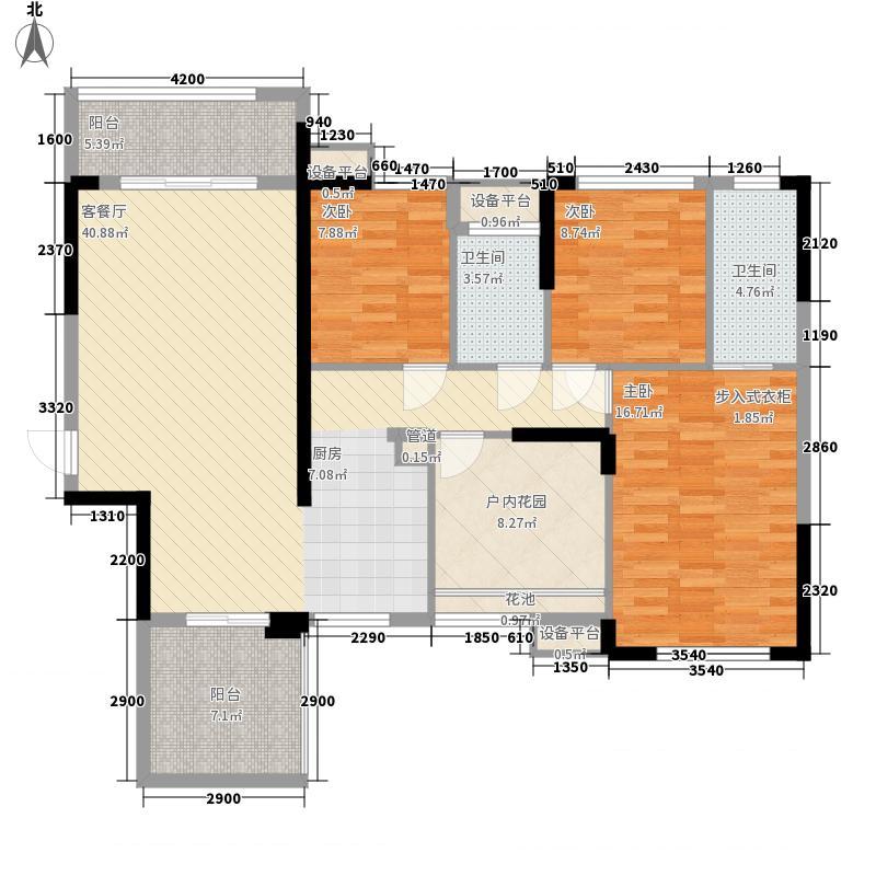 汇荣桂林桂林127.81㎡#16A4户型4室2厅2卫1厨