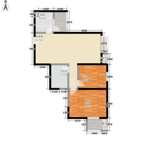 世融嘉城2室0厅1卫1厨103.00㎡户型图
