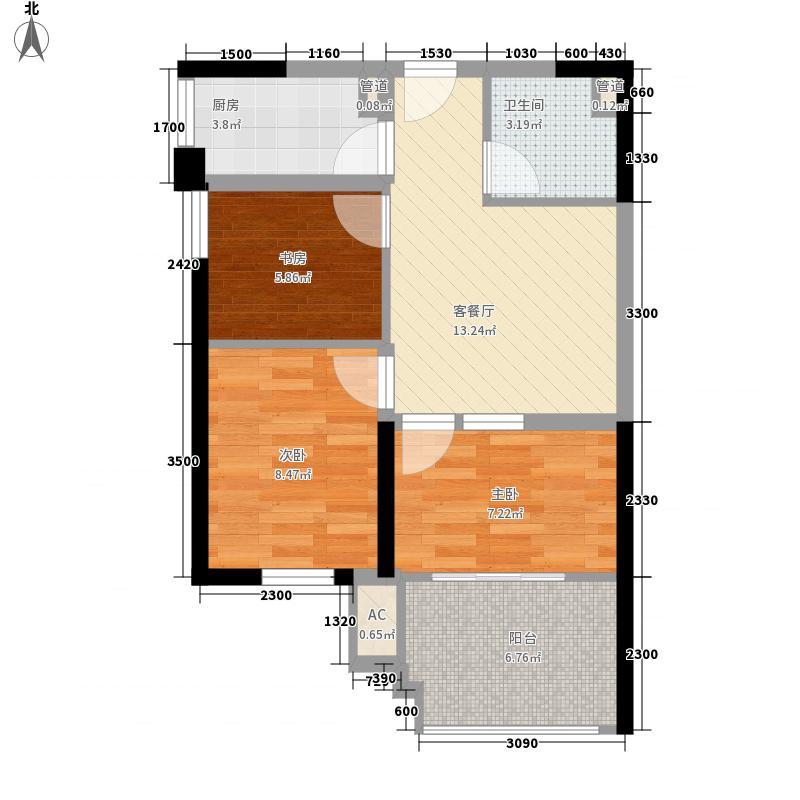 金大地19126.10㎡小b户型2室2厅1卫1厨