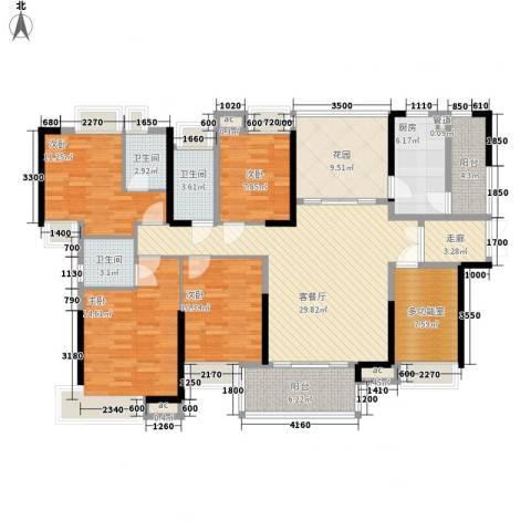 三正卧龙山一号4室1厅3卫1厨153.00㎡户型图