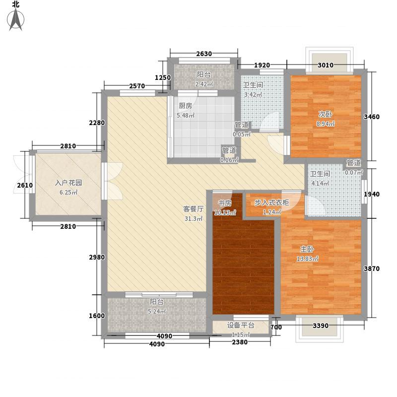 恒盛豪庭135.78㎡恒盛豪庭户型图L1户型3室2厅2卫1厨户型3室2厅2卫1厨