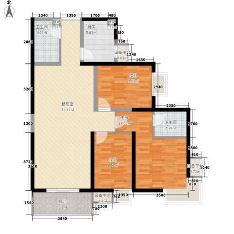世融嘉城3室0厅2卫1厨127.00㎡户型图