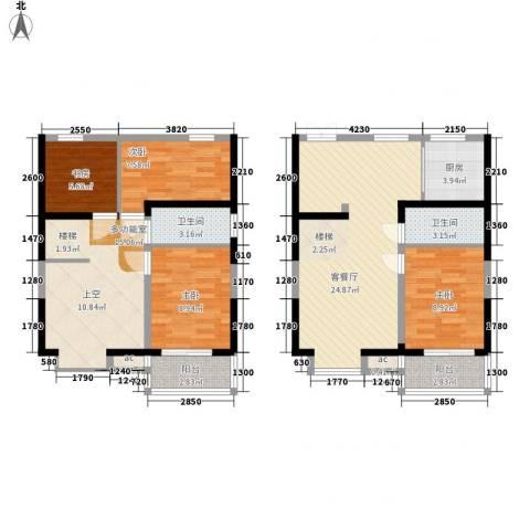 锦尚4室1厅2卫1厨101.00㎡户型图