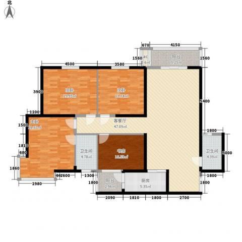 锦尚4室1厅2卫1厨164.00㎡户型图