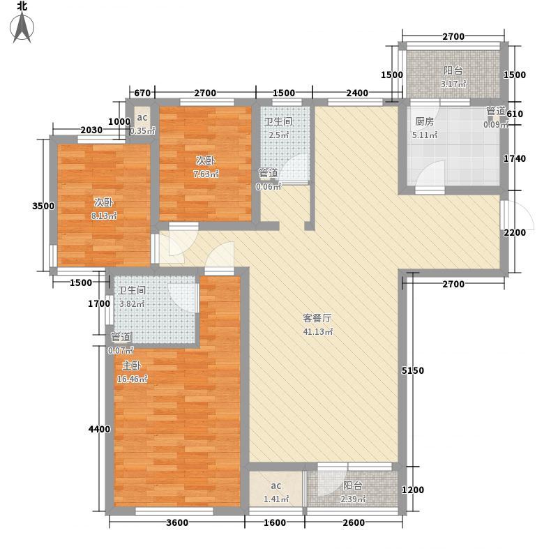 明城东岸135.00㎡高层28、29号楼标准层A户型