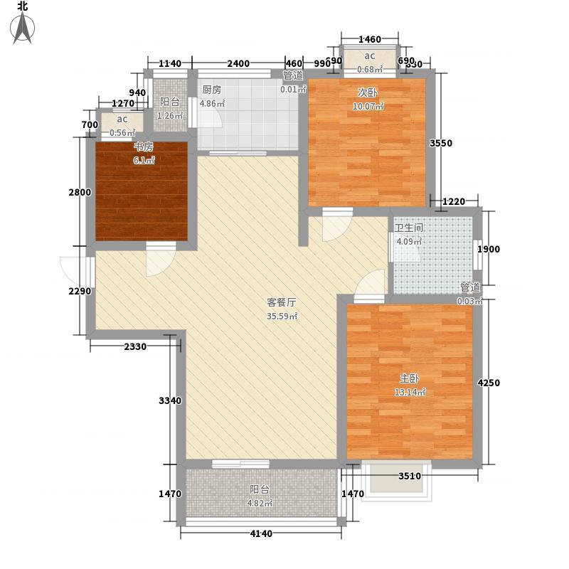 福泰新都城117.00㎡福泰新都城户型图34#楼B3户型3室2厅1卫户型3室2厅1卫